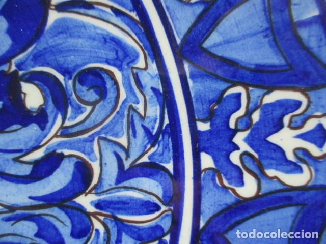 Antigüedades: plato antiguo ceramica Triana - Foto 3 - 177750403