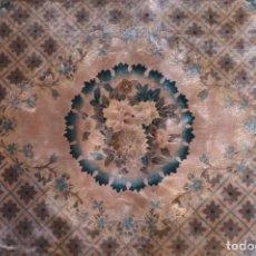 Antigüedades: MÁGNIFICA ALFOMBRA DE SEDA ORIENTAL. Lote 177755653