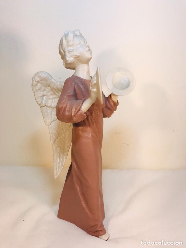 Antigüedades: Figura Porcelana-España- Algora - Angel músico Platillos- 23 cm - Foto 22 - 177775033
