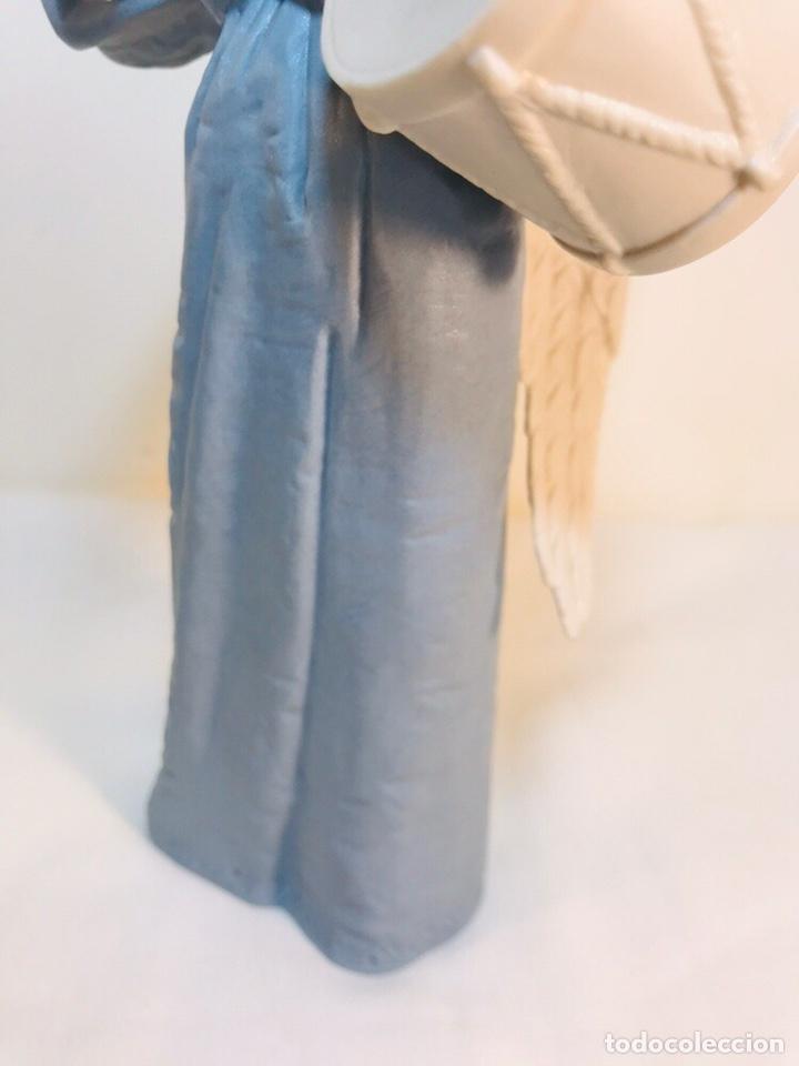 Antigüedades: Figura Porcelana-España- Algora - Angel músico tambor- 23 cm - Foto 8 - 177776087