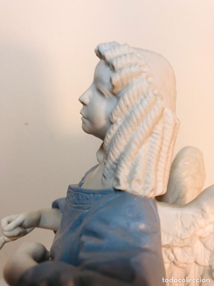 Antigüedades: Figura Porcelana-España- Algora - Angel músico tambor- 23 cm - Foto 12 - 177776087