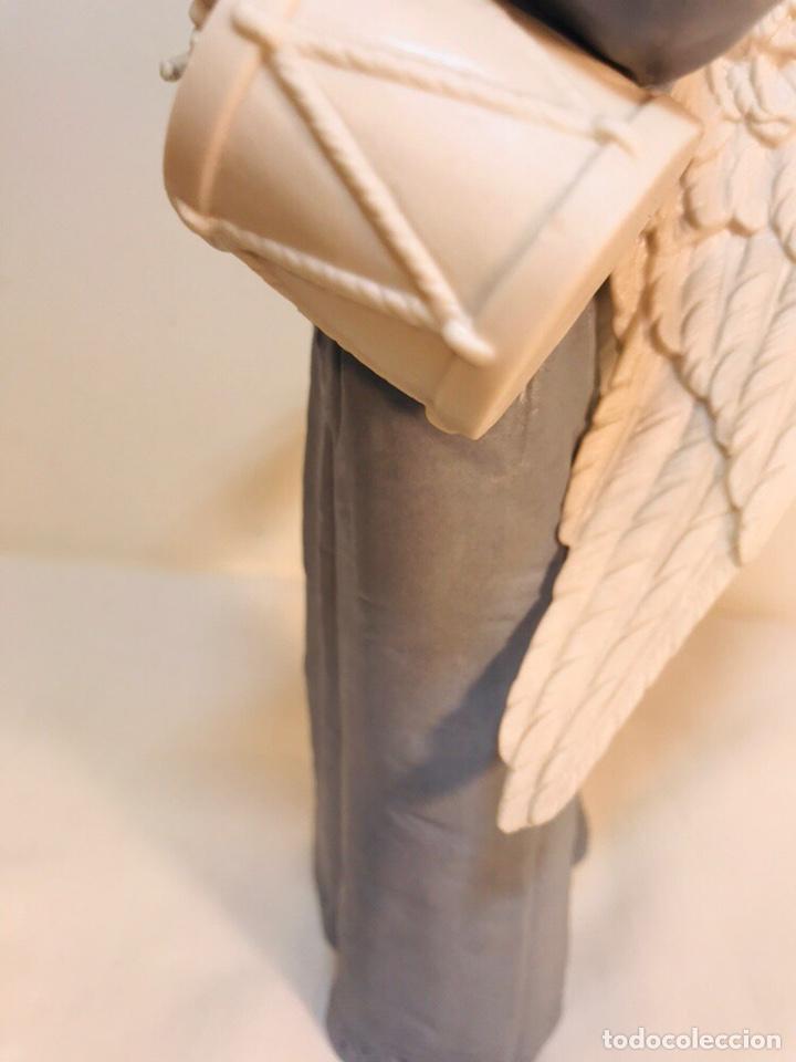 Antigüedades: Figura Porcelana-España- Algora - Angel músico tambor- 23 cm - Foto 13 - 177776087