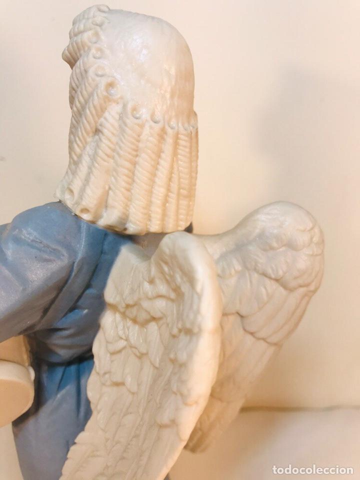 Antigüedades: Figura Porcelana-España- Algora - Angel músico tambor- 23 cm - Foto 15 - 177776087