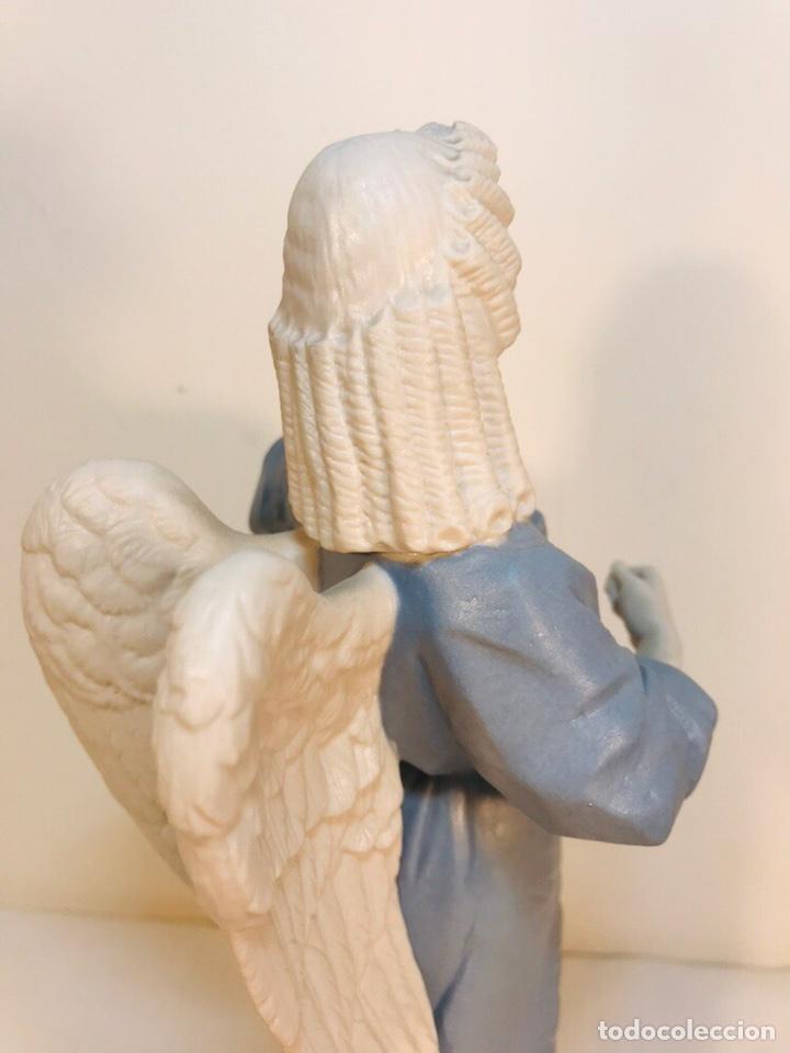 Antigüedades: Figura Porcelana-España- Algora - Angel músico tambor- 23 cm - Foto 22 - 177776087