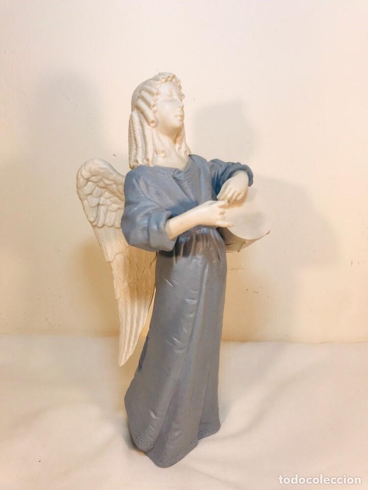 Antigüedades: Figura Porcelana-España- Algora - Angel músico tambor- 23 cm - Foto 27 - 177776087