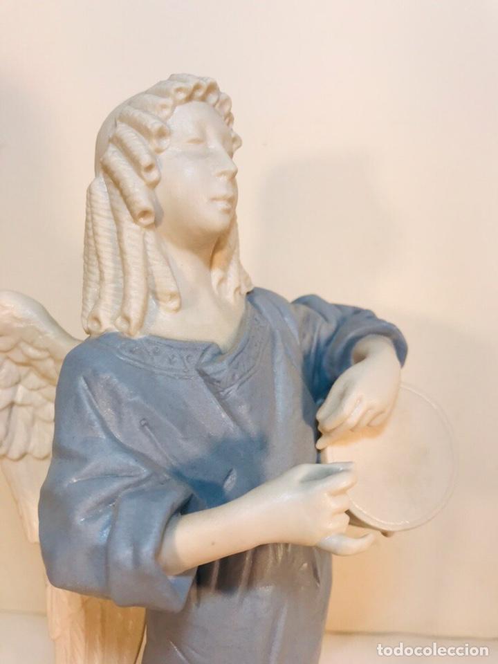 Antigüedades: Figura Porcelana-España- Algora - Angel músico tambor- 23 cm - Foto 28 - 177776087