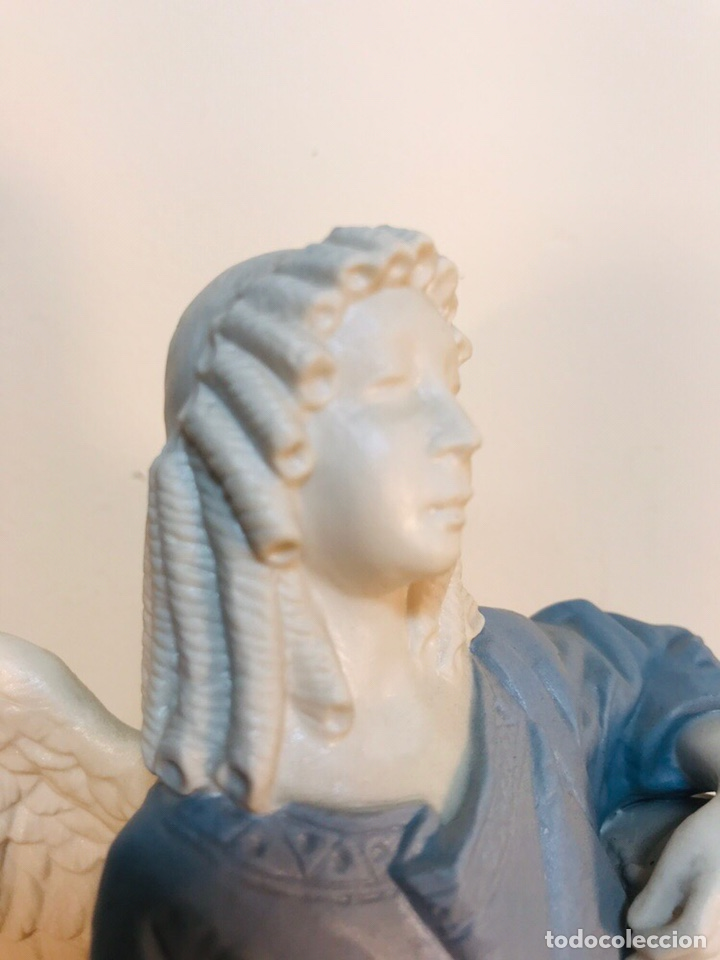 Antigüedades: Figura Porcelana-España- Algora - Angel músico tambor- 23 cm - Foto 29 - 177776087