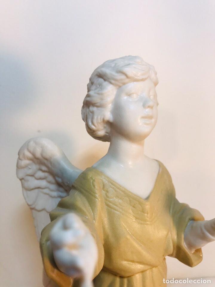 Antigüedades: Figura Porcelana-España- Algora - Angel músico director- 23 cm - Foto 2 - 177777399