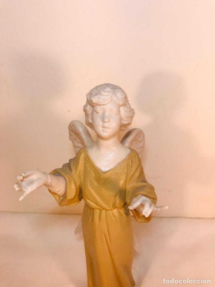 Antigüedades: Figura Porcelana-España- Algora - Angel músico director- 23 cm - Foto 7 - 177777399