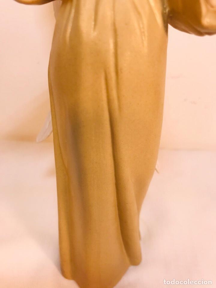 Antigüedades: Figura Porcelana-España- Algora - Angel músico director- 23 cm - Foto 8 - 177777399