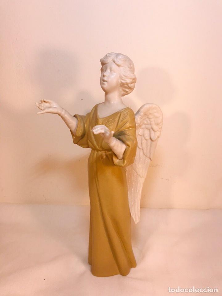 Antigüedades: Figura Porcelana-España- Algora - Angel músico director- 23 cm - Foto 9 - 177777399