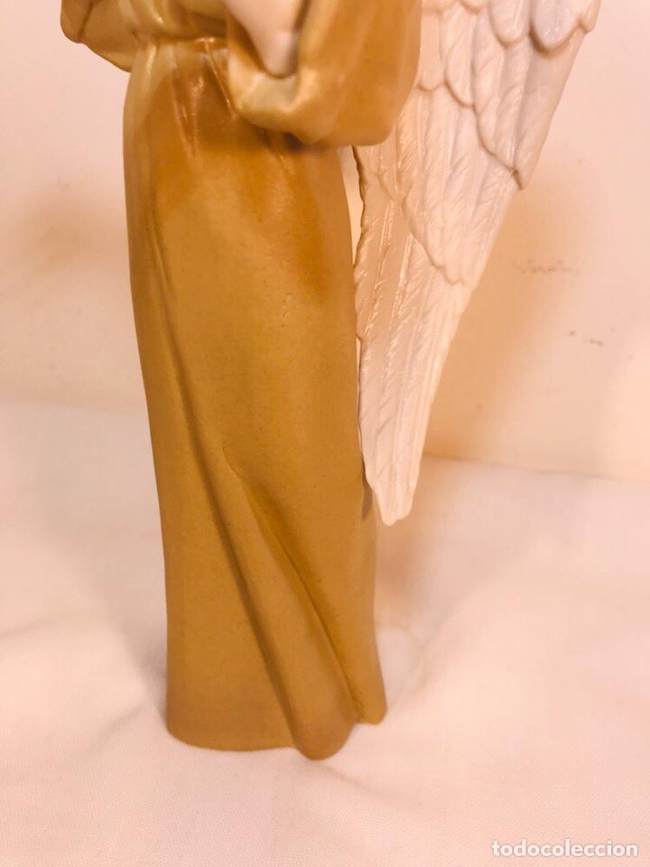 Antigüedades: Figura Porcelana-España- Algora - Angel músico director- 23 cm - Foto 12 - 177777399