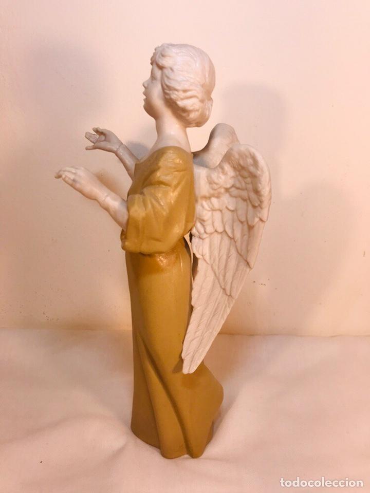 Antigüedades: Figura Porcelana-España- Algora - Angel músico director- 23 cm - Foto 13 - 177777399
