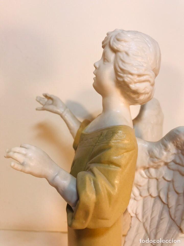 Antigüedades: Figura Porcelana-España- Algora - Angel músico director- 23 cm - Foto 14 - 177777399