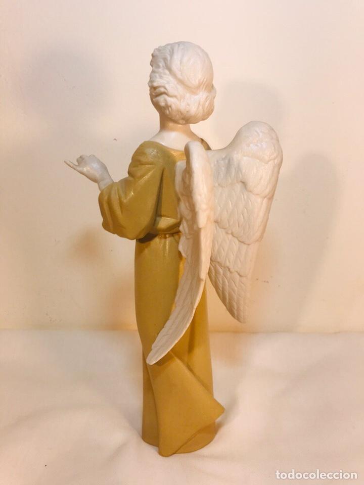 Antigüedades: Figura Porcelana-España- Algora - Angel músico director- 23 cm - Foto 16 - 177777399