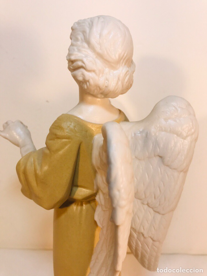 Antigüedades: Figura Porcelana-España- Algora - Angel músico director- 23 cm - Foto 17 - 177777399