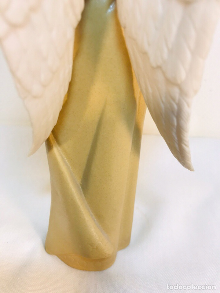 Antigüedades: Figura Porcelana-España- Algora - Angel músico director- 23 cm - Foto 18 - 177777399