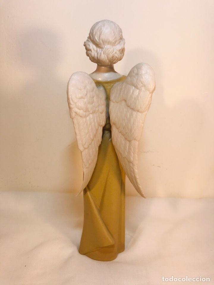 Antigüedades: Figura Porcelana-España- Algora - Angel músico director- 23 cm - Foto 19 - 177777399