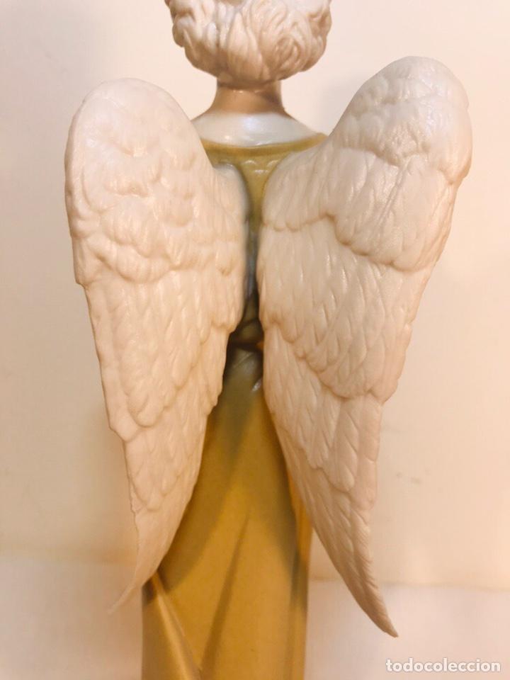 Antigüedades: Figura Porcelana-España- Algora - Angel músico director- 23 cm - Foto 20 - 177777399