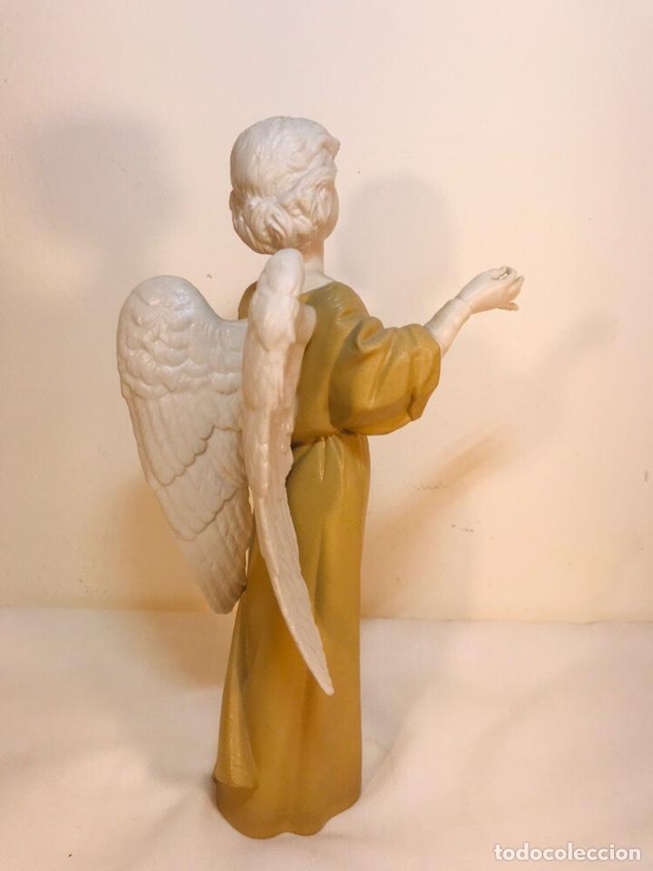 Antigüedades: Figura Porcelana-España- Algora - Angel músico director- 23 cm - Foto 22 - 177777399
