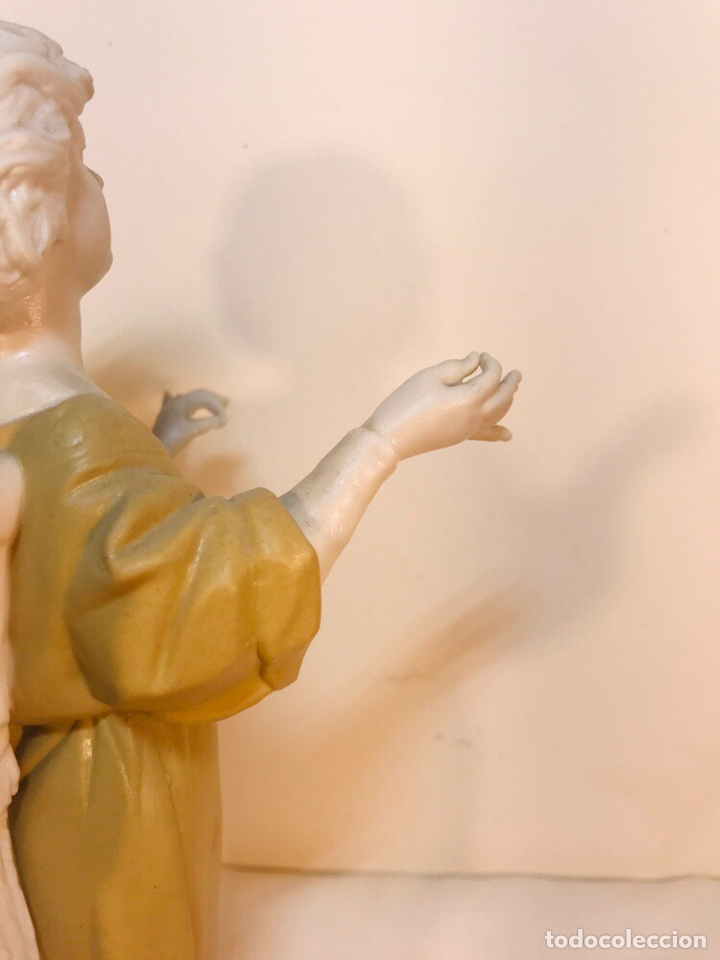 Antigüedades: Figura Porcelana-España- Algora - Angel músico director- 23 cm - Foto 24 - 177777399