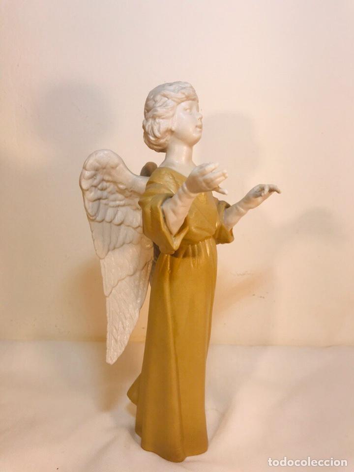 Antigüedades: Figura Porcelana-España- Algora - Angel músico director- 23 cm - Foto 30 - 177777399