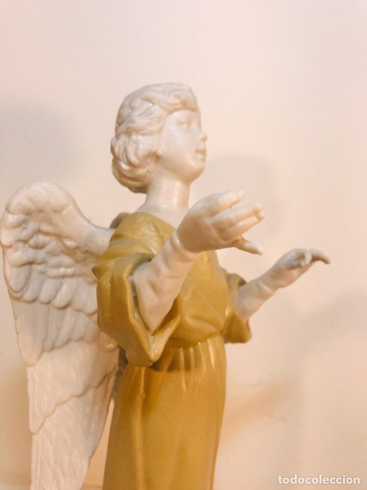 Antigüedades: Figura Porcelana-España- Algora - Angel músico director- 23 cm - Foto 31 - 177777399
