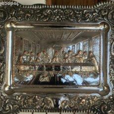 Antigüedades: ESPECTACULAR PLAFON DE LA SANTA CENA DE DA VINCI -BAÑO DE PLATA REPUJADA. PRINCIPIOS S. XX.. Lote 188469753