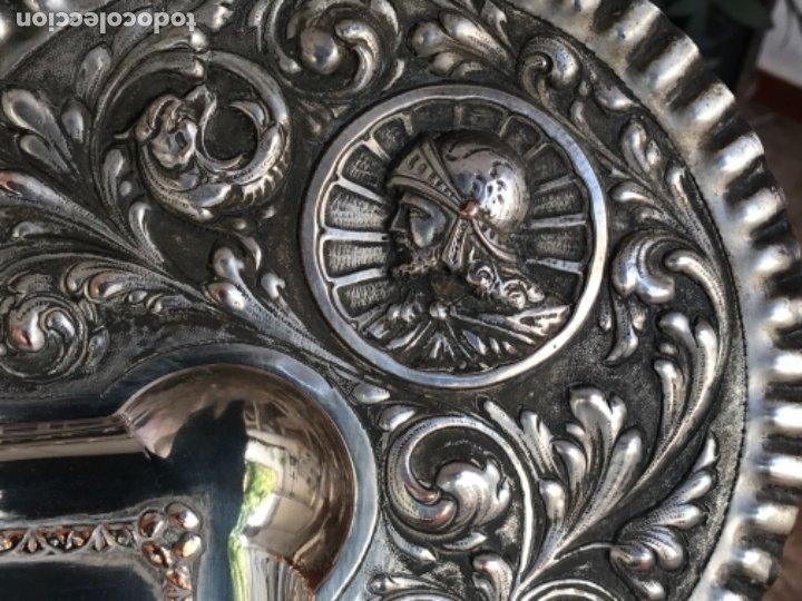 Antigüedades: ESPECTACULAR PLAFON DE LA SANTA CENA DE DA VINCI -BAÑO DE PLATA REPUJADA. PRINCIPIOS S. XX. - Foto 6 - 177779494