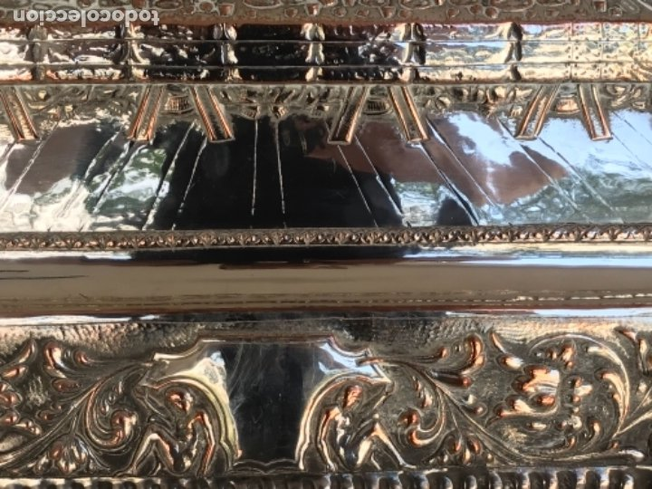 Antigüedades: ESPECTACULAR PLAFON DE LA SANTA CENA DE DA VINCI -BAÑO DE PLATA REPUJADA. PRINCIPIOS S. XX. - Foto 9 - 177779494