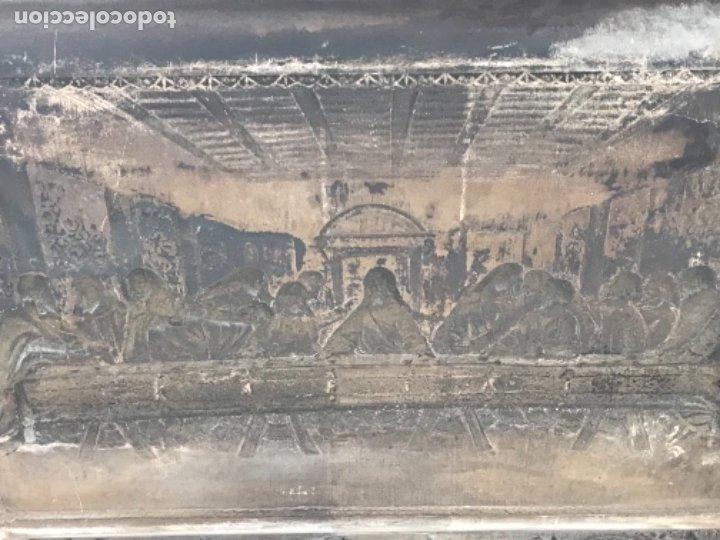 Antigüedades: ESPECTACULAR PLAFON DE LA SANTA CENA DE DA VINCI -BAÑO DE PLATA REPUJADA. PRINCIPIOS S. XX. - Foto 11 - 177779494