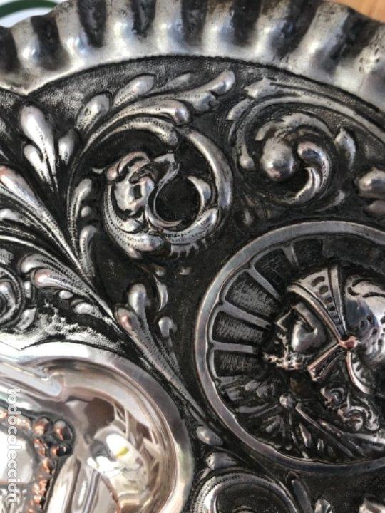 Antigüedades: ESPECTACULAR PLAFON DE LA SANTA CENA DE DA VINCI -BAÑO DE PLATA REPUJADA. PRINCIPIOS S. XX. - Foto 14 - 177779494