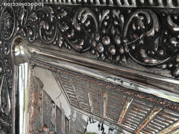 Antigüedades: ESPECTACULAR PLAFON DE LA SANTA CENA DE DA VINCI -BAÑO DE PLATA REPUJADA. PRINCIPIOS S. XX. - Foto 20 - 177779494