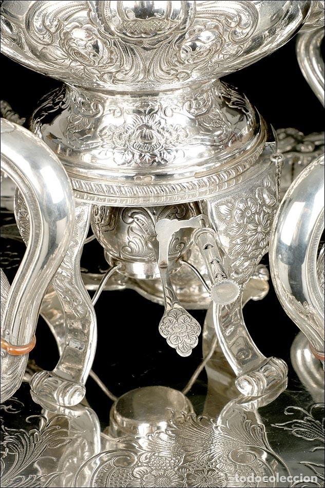 Antigüedades: Extraordinario Juego de Café Antiguo en Plata Maciza. 7,8 kilos. España, Principios Siglo XX - Foto 12 - 177785830