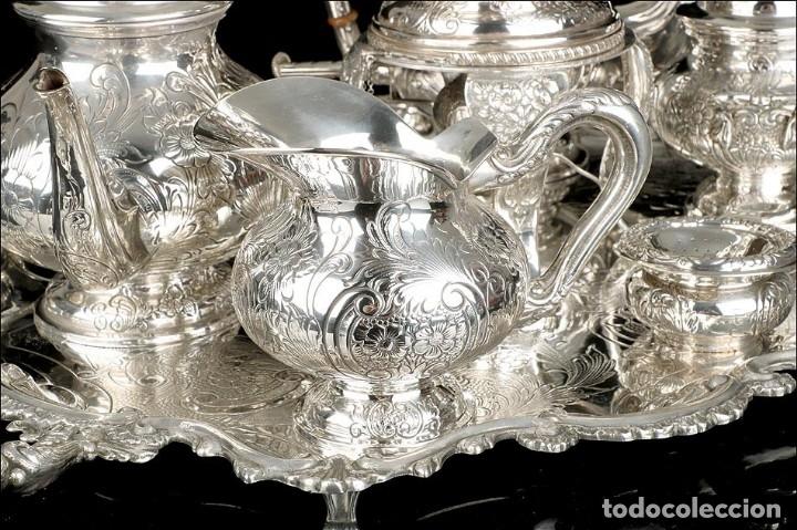 Antigüedades: Extraordinario Juego de Café Antiguo en Plata Maciza. 7,8 kilos. España, Principios Siglo XX - Foto 18 - 177785830