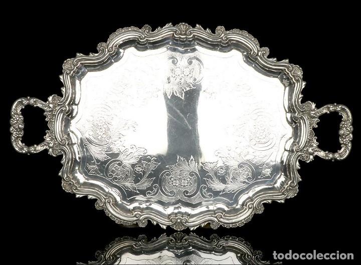 Antigüedades: Extraordinario Juego de Café Antiguo en Plata Maciza. 7,8 kilos. España, Principios Siglo XX - Foto 19 - 177785830