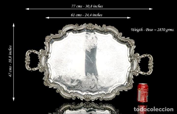Antigüedades: Extraordinario Juego de Café Antiguo en Plata Maciza. 7,8 kilos. España, Principios Siglo XX - Foto 20 - 177785830