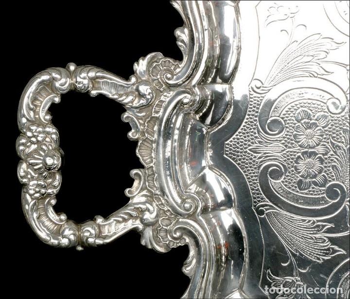 Antigüedades: Extraordinario Juego de Café Antiguo en Plata Maciza. 7,8 kilos. España, Principios Siglo XX - Foto 21 - 177785830