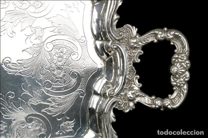 Antigüedades: Extraordinario Juego de Café Antiguo en Plata Maciza. 7,8 kilos. España, Principios Siglo XX - Foto 22 - 177785830