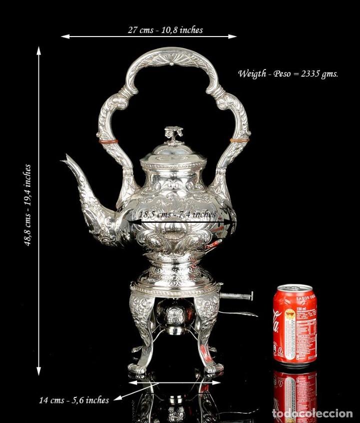 Antigüedades: Extraordinario Juego de Café Antiguo en Plata Maciza. 7,8 kilos. España, Principios Siglo XX - Foto 30 - 177785830