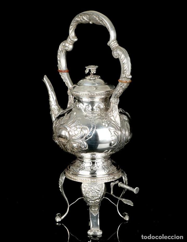 Antigüedades: Extraordinario Juego de Café Antiguo en Plata Maciza. 7,8 kilos. España, Principios Siglo XX - Foto 31 - 177785830