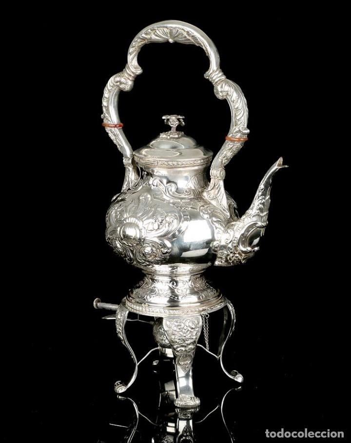 Antigüedades: Extraordinario Juego de Café Antiguo en Plata Maciza. 7,8 kilos. España, Principios Siglo XX - Foto 33 - 177785830