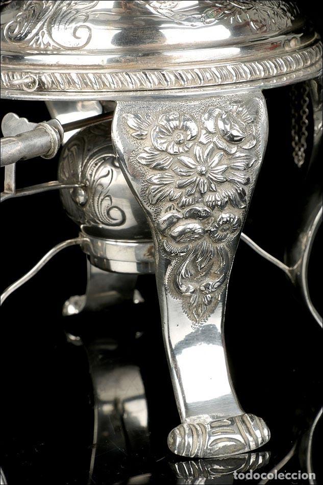 Antigüedades: Extraordinario Juego de Café Antiguo en Plata Maciza. 7,8 kilos. España, Principios Siglo XX - Foto 39 - 177785830
