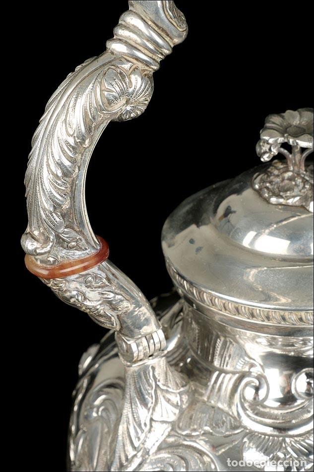 Antigüedades: Extraordinario Juego de Café Antiguo en Plata Maciza. 7,8 kilos. España, Principios Siglo XX - Foto 41 - 177785830