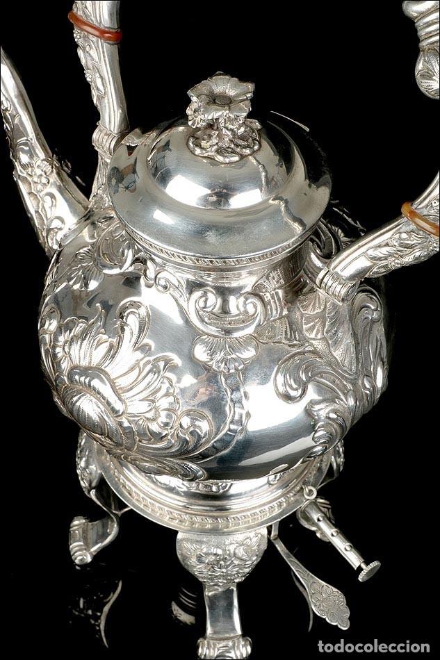 Antigüedades: Extraordinario Juego de Café Antiguo en Plata Maciza. 7,8 kilos. España, Principios Siglo XX - Foto 42 - 177785830