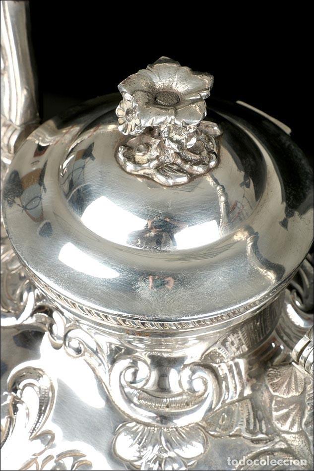 Antigüedades: Extraordinario Juego de Café Antiguo en Plata Maciza. 7,8 kilos. España, Principios Siglo XX - Foto 43 - 177785830
