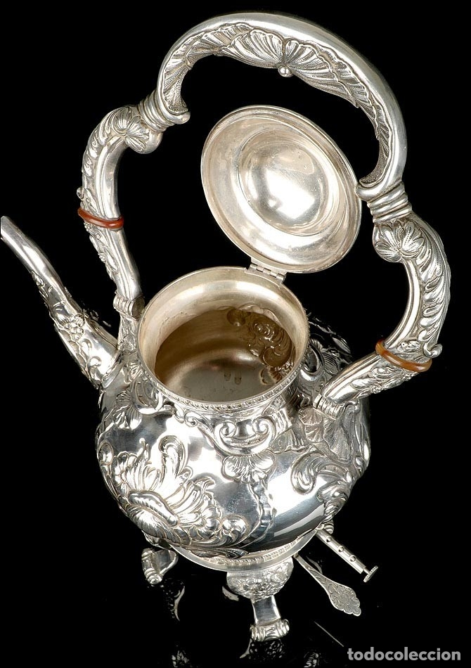 Antigüedades: Extraordinario Juego de Café Antiguo en Plata Maciza. 7,8 kilos. España, Principios Siglo XX - Foto 44 - 177785830