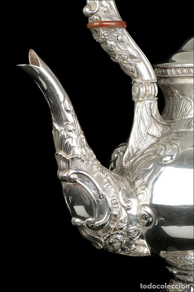 Antigüedades: Extraordinario Juego de Café Antiguo en Plata Maciza. 7,8 kilos. España, Principios Siglo XX - Foto 46 - 177785830