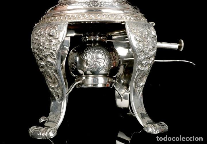 Antigüedades: Extraordinario Juego de Café Antiguo en Plata Maciza. 7,8 kilos. España, Principios Siglo XX - Foto 47 - 177785830