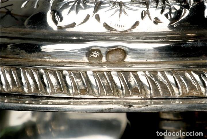 Antigüedades: Extraordinario Juego de Café Antiguo en Plata Maciza. 7,8 kilos. España, Principios Siglo XX - Foto 51 - 177785830